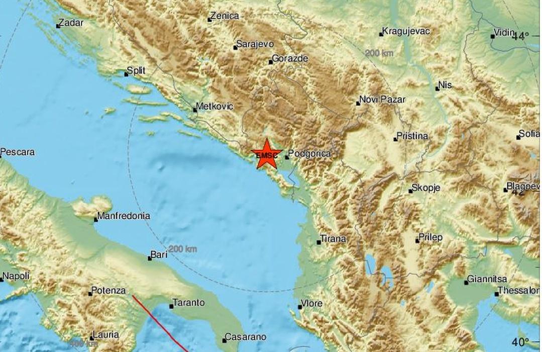 Dva potresa zabilježena na području Jadrana