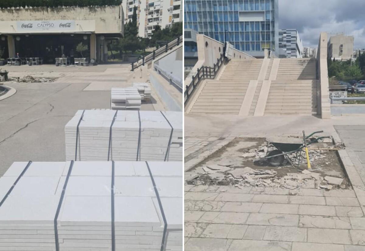 NAPOKON OBNOVA Započela sanacija Ulice Ruđera Boškovića u Splitu