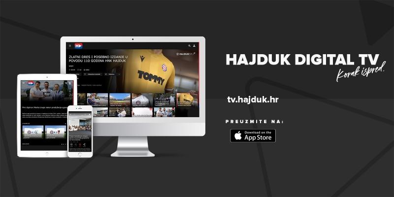 KORAK ISPRED: Hajduk lansirao Hajduk digital TV – OTT aplikaciju