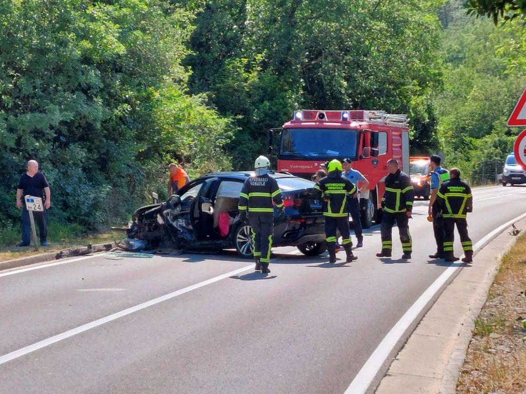 STRAVIČNI PRIZORI U DALMACIJI Sudar dvaju vozila, jedna osoba je ozlijeđena