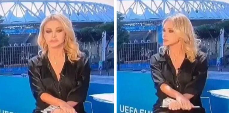 VIDEO SE ŠIRI DRUŠTVENIM MREŽAMA Talijanska novinarka slučajno pokazala međunožje u emisiji, snimka postala hit