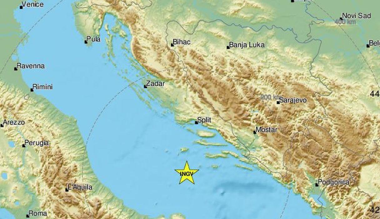 Epicentar je bio 56 kilometara jugozapadno od Vele Luke: Dva potresa zabilježena u Jadranu